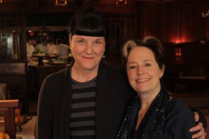 Director Beth Federici with Alice Waters